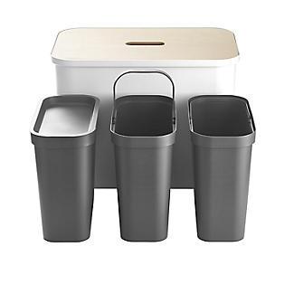 SmartStore Recycling Bin Unit White - 76L alt image 9