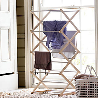Wooden Concertina Clothes Airer