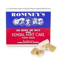 Romney's Twin Pack Kendal Mint Cake - 1 White & 1 Brown 340g