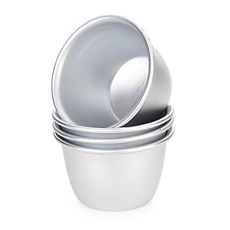 4 Metal Mini Steamed Pudding Basins