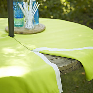 Round Tablecloth with Opening Green