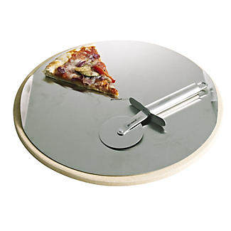 Pizza Stone Set and Cutter alt image 2