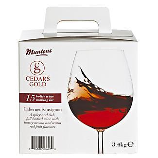 Cedars Gold Cabernet Sauvignon Wine Making Kit (15 Bottles)
