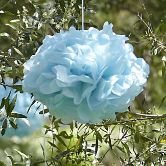 Paper Party Pompoms Blue