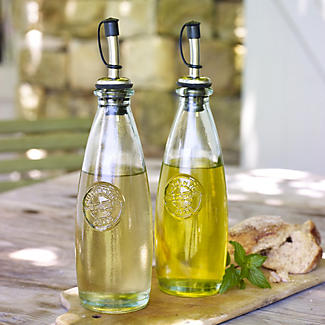 Authentic Recycled Oil and Vinegar Bottles