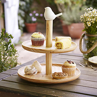 Birdy Two Tier Cake Stand