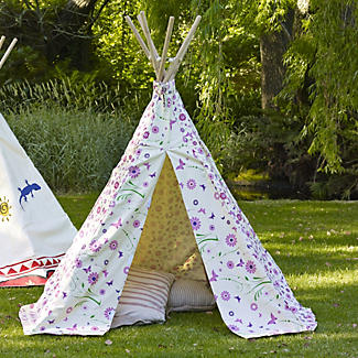 Flowers and Butterflies Tipi