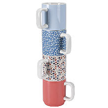 Ditsy Blossom 4 Stacking Mugs