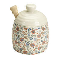 Ditsy Blossom Honey Pot with Drizzler