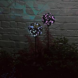 2 Smart Solar Butterfly Stake Lights alt image 2