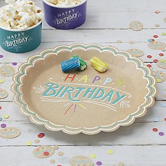 Happy Birthday 8 Paper Plates alt image 2