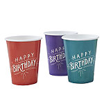 Happy Birthday 8 Paper Cups