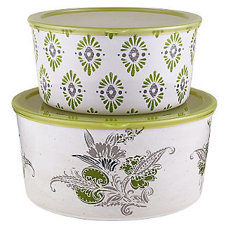 Tivoli Lidded Picnic Container Duo
