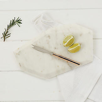 Just Slate Polygonal Marble Chopping Board with Fruit Knife alt image 2