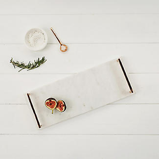 Just Slate Marble Serving Tray With Copper Handles alt image 2