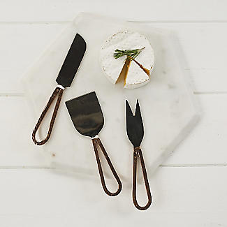 Just Slate 3 Copper Cheese Knives alt image 2
