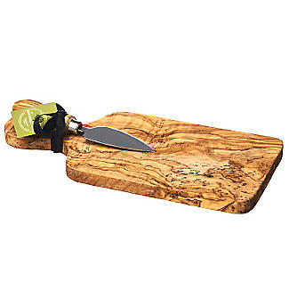 Just Slate Rustic Cheese Board With Knife