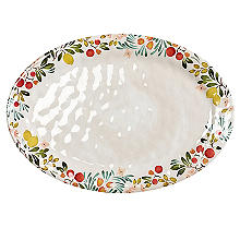 Lemon Grove Melamine Oval Serving Platter
