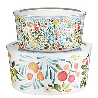 Lemon Grove Lidded Melamine Serve and Store Bowl