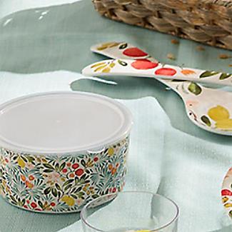 Lemon Grove Lidded Melamine Serve and Store Bowl Duo alt image 2