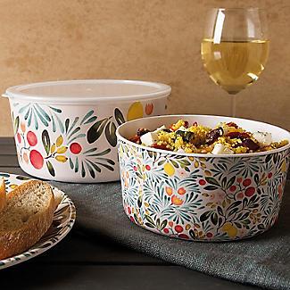 Lemon Grove Lidded Melamine Serve and Store Bowl Duo alt image 7
