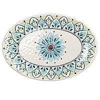 Moroccan Bloom Melamine Oval Serving Platter