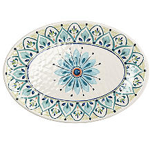Moroccan Bloom Melamine Oval Serving Platter