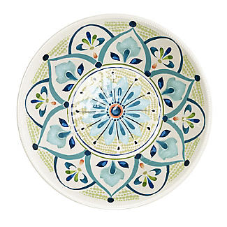 Moroccan Bloom Melamine Salad Bowl
