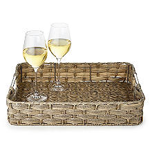 Rustic Woven Serving Tray