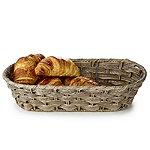 Rustic Woven Oval Basket