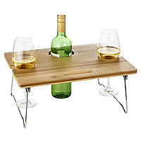 Outdoor Mini Wine Table with Wine Glass Holders