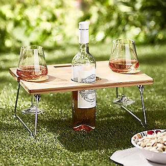 Outdoor Mini Wine Table With Gl Holders Alt Image 2
