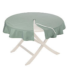 Round Weatherproof Outdoor Tablecloth Sage