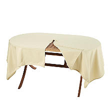 Oblong Weatherproof Outdoor Tablecloth Almond