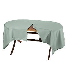 Oblong Weatherproof Outdoor Tablecloth Sage