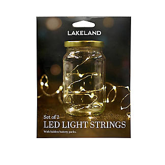 LED Light String with Hook and Loop - Set of 2 alt image 5