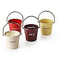Eddingtons Ranch Ketchup Mayo BBQ and Mustard Condiment Buckets