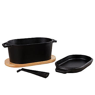 Ooni Pro Cast Iron 4-Piece Casserole Dish and Sizzler Set