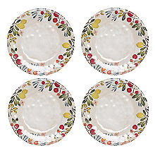 Lemon Grove Melamine 4 Piece Dinner Plate Set