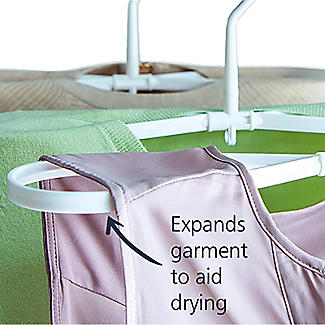 Lakeland Quick-Dry Twist Hangers White 3 Pack alt image 3