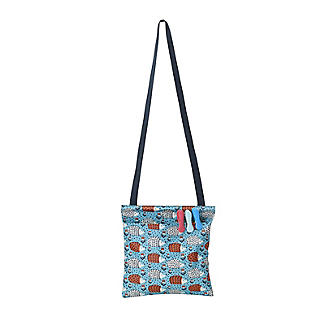 Hedgehog Oilcloth Peg Bag