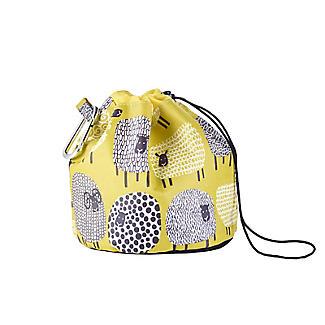 Dotty Sheep Drawstring Oilcloth Peg Bag