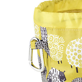 Dotty Sheep Drawstring Oilcloth Peg Bag alt image 3