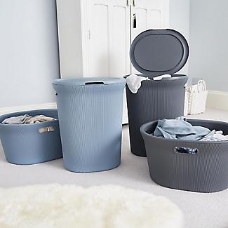 Tatay Laundry Hamper Blue 40L alt image 7