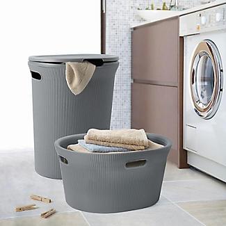 Tatay Laundry Hamper Grey 40L alt image 2