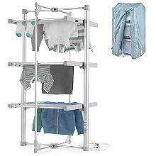 Dry:Soon 3-Tier Heated Airer and Blue Cover Offer Bundle