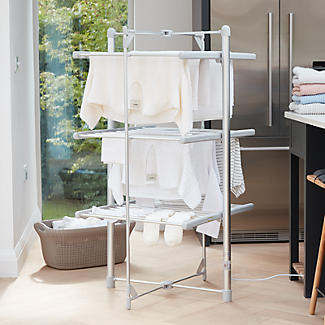 Dry:Soon 3-Tier Heated Airer and Blue Cover Offer Bundle alt image 2