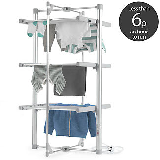 Dry:Soon 3-Tier Heated Airer and Blue Cover Offer Bundle alt image 3