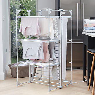 Dry:Soon Deluxe 3-Tier Heated Airer and Blue Cover Offer Bundle alt image 2