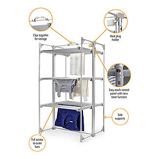 Dry:Soon Deluxe 3-Tier Heated Airer and Blue Cover Offer Bundle alt image 3